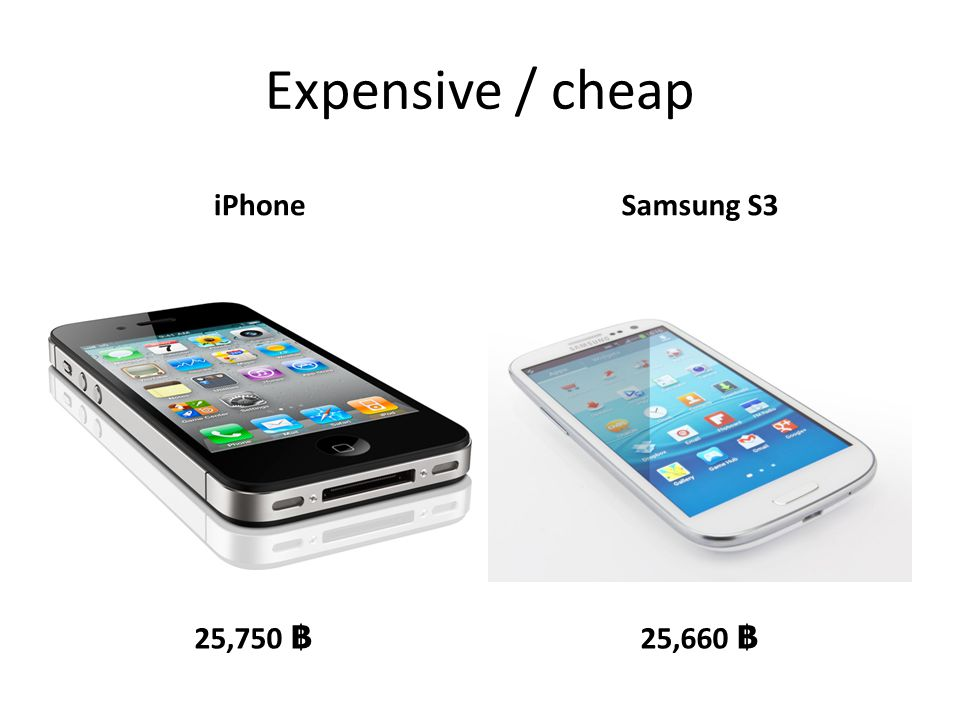 Expensive / cheap iPhoneSamsung S3 25,750 ฿ 25,660 ฿