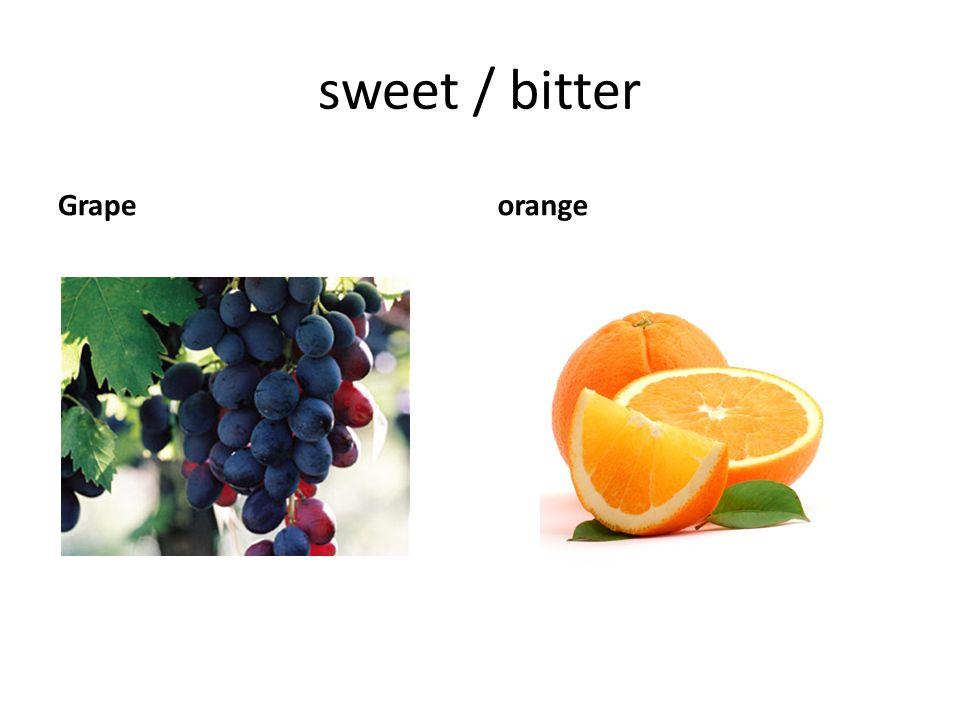 sweet / bitter Grapeorange