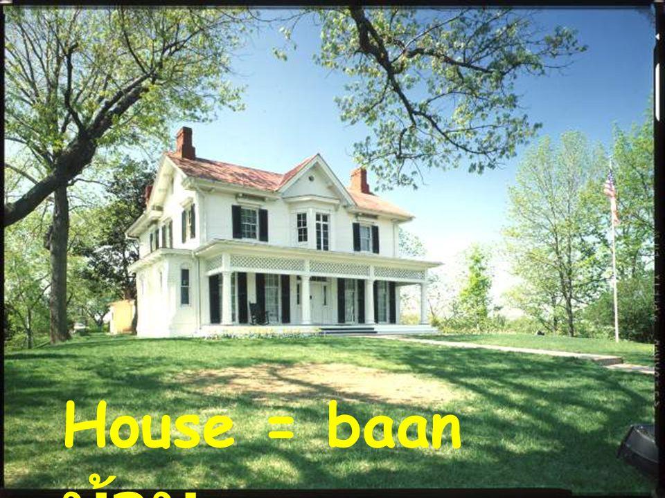 House = baan บ้าน