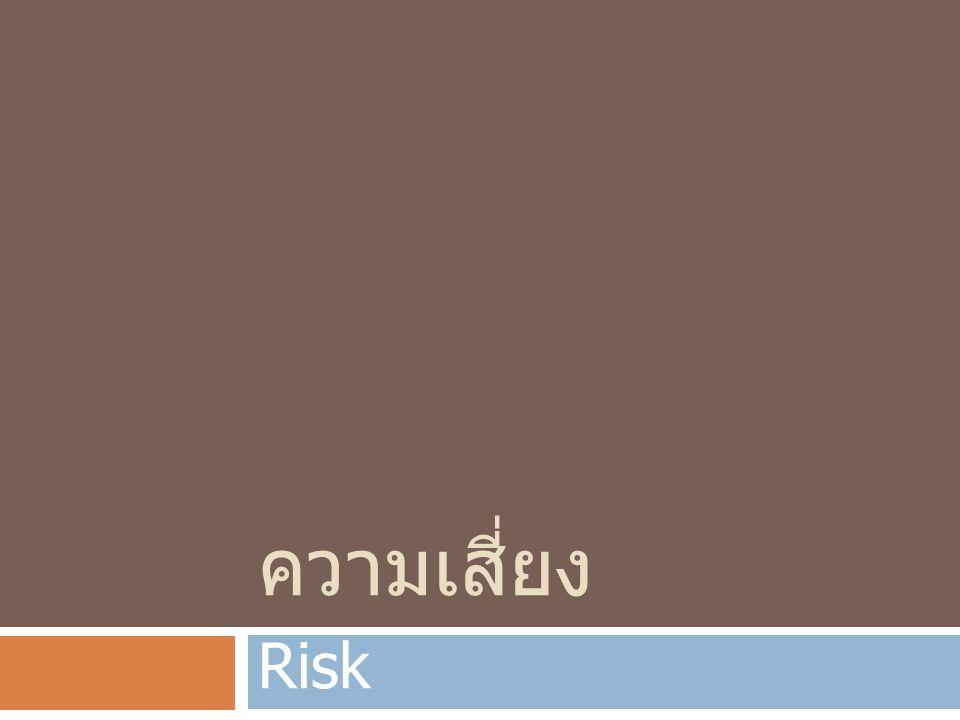 ความเสี่ยง Risk