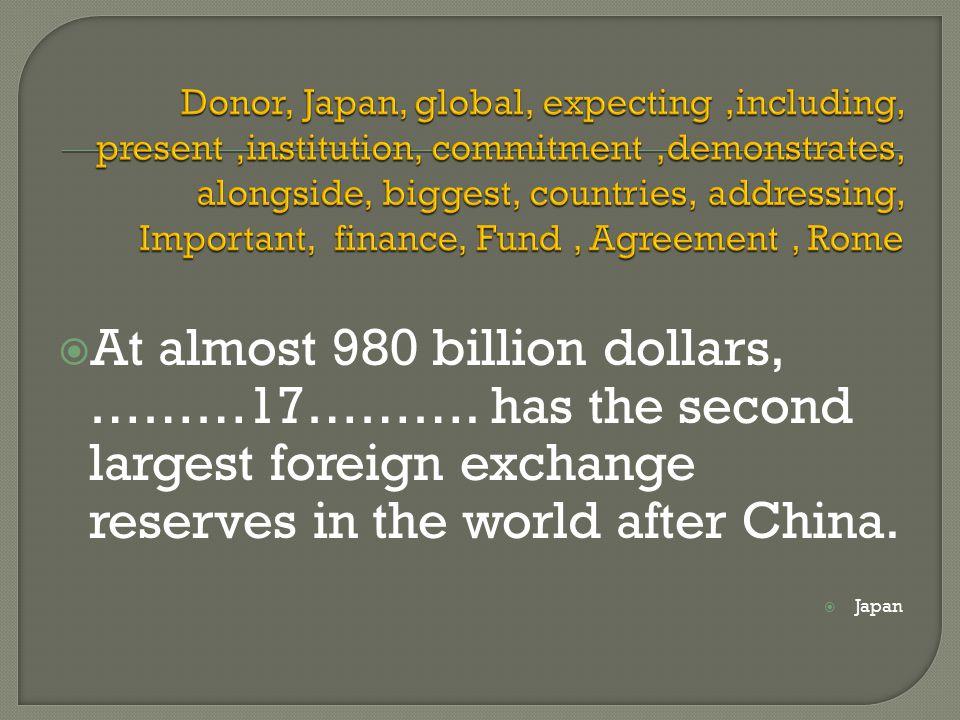  At almost 980 billion dollars, ………17……….