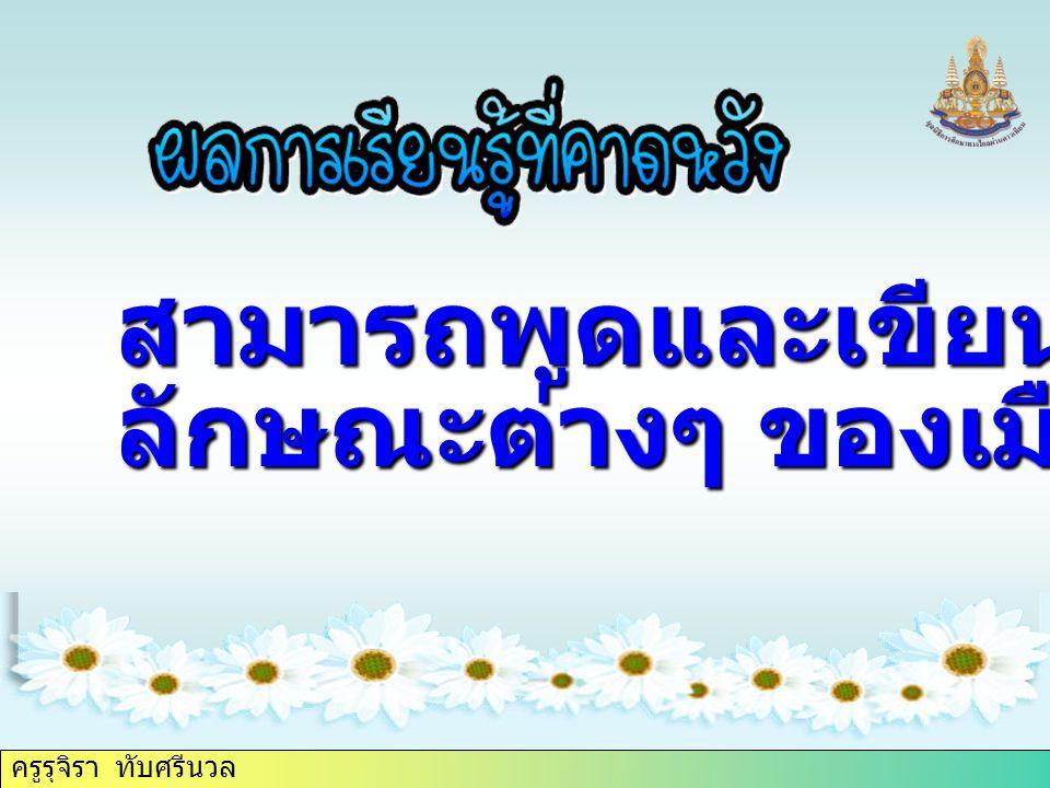 ครูรุจิรา ทับศรีนวล 5. city/your/is /polluted