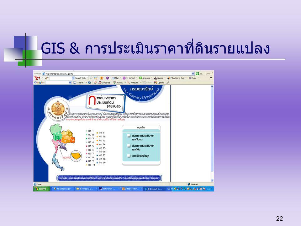 22 GIS & การประเมินราคาที่ดินรายแปลง