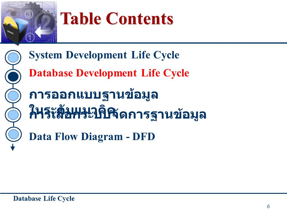 Database Life Cycle 17 Some Rules for Processes Always internal to system Law of conservation of data: #1: Data stays at rest unless moved by a process.