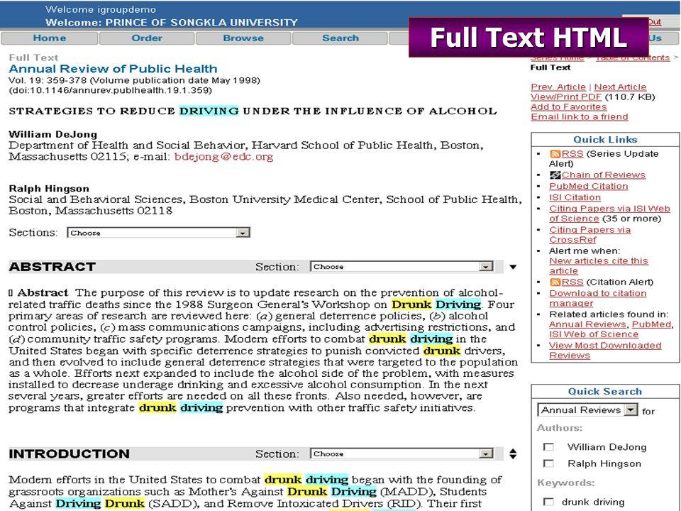 Full Text HTML