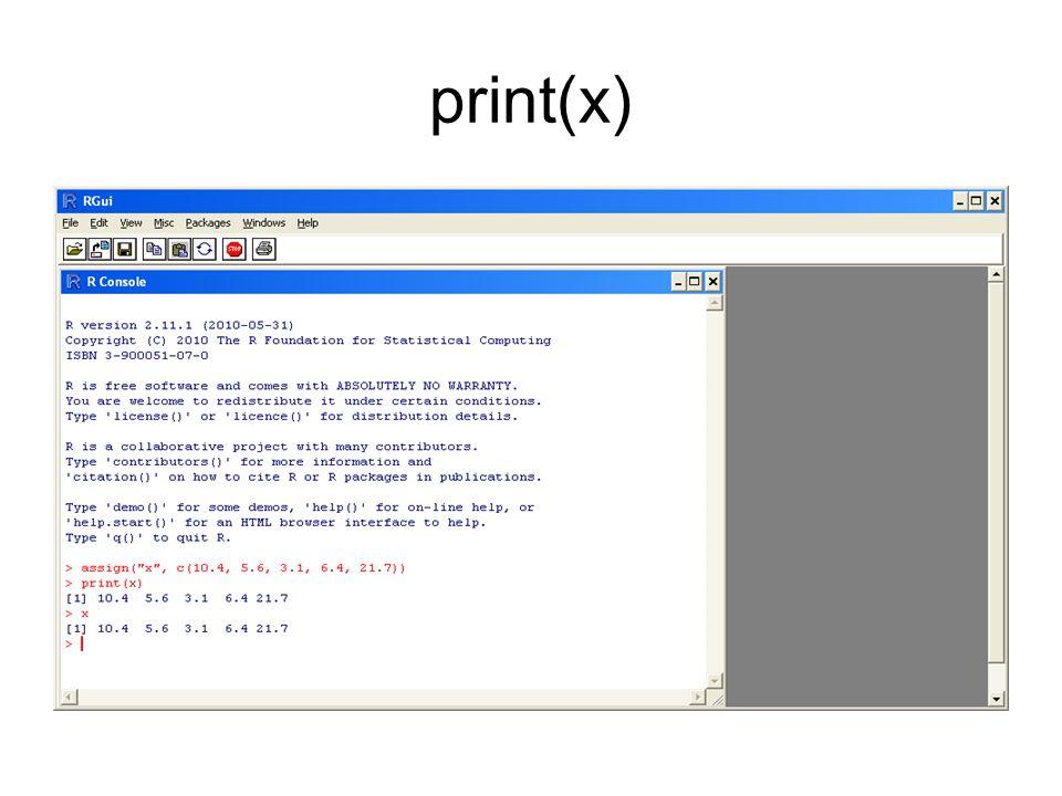 print(x)
