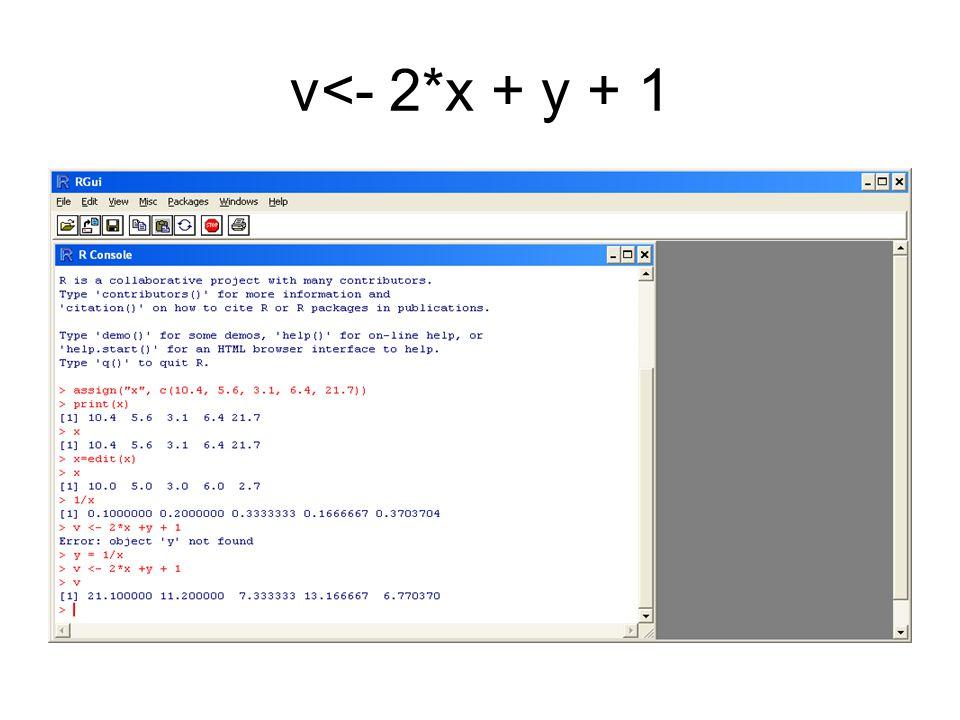 v<- 2*x + y + 1