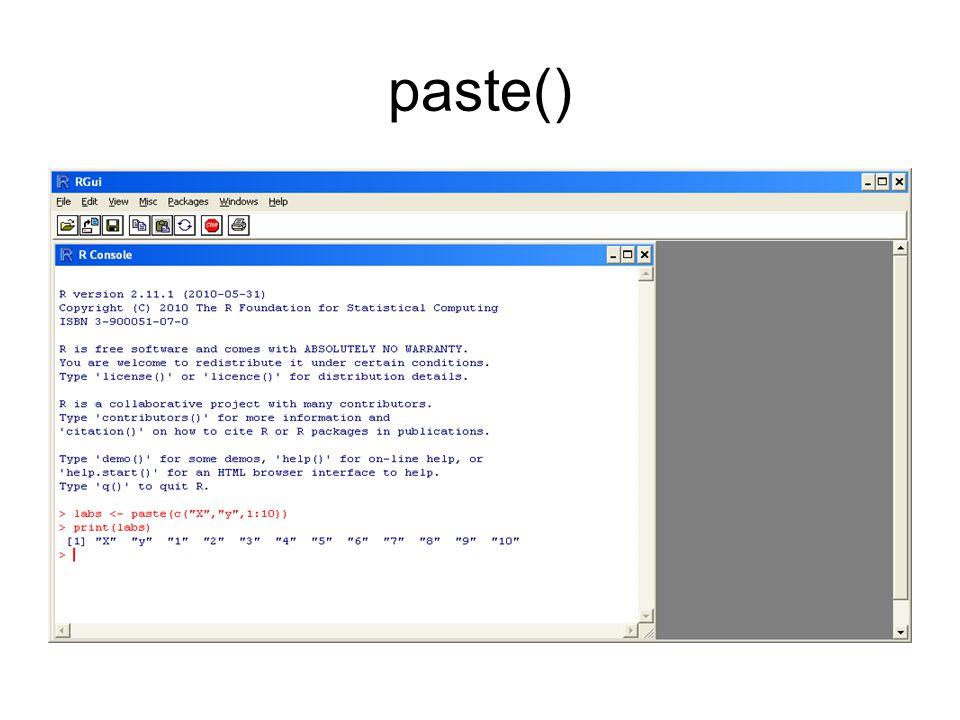 paste()