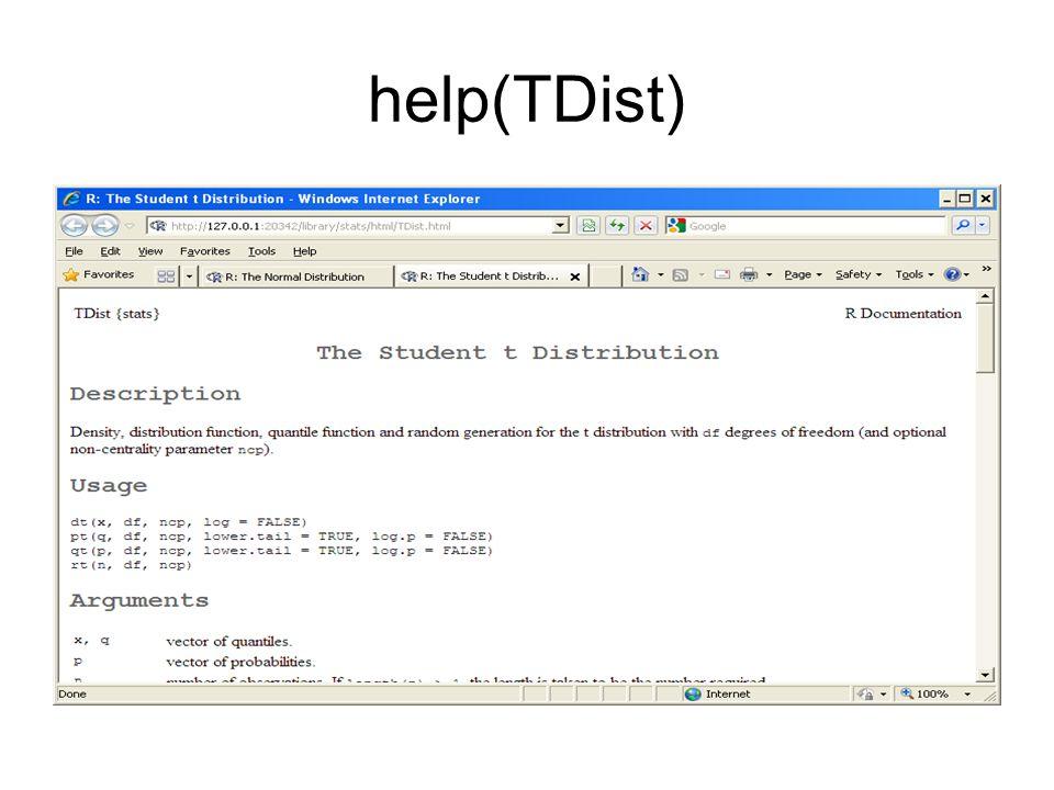 help(TDist)