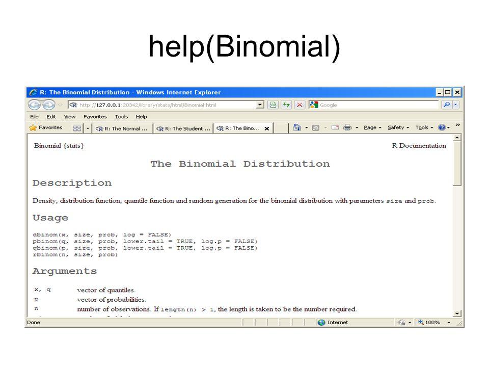 help(Binomial)