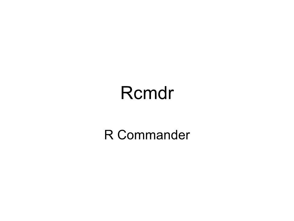 Rcmdr R Commander