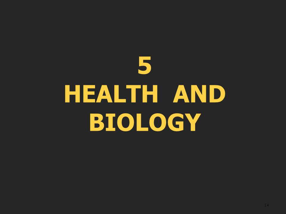 14 5 HEALTH AND BIOLOGY