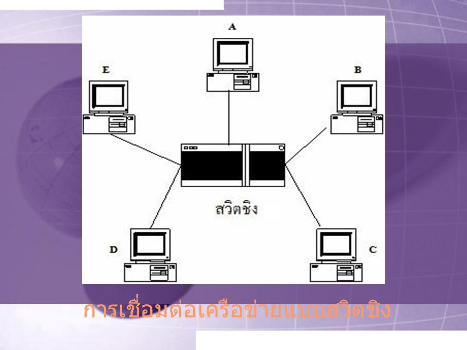 การเชื่อมต่อเครือข่ายแบบสวิตชิง