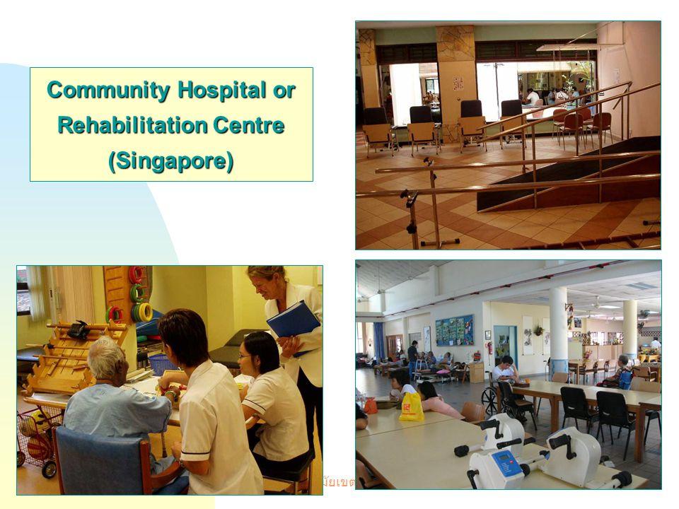 บรรยายพิเศษ ศูนย์อนามัยเขต 1 ณ โรงแรมกรุงศรีริเวอร์ 19 มี. ค.51 17 Community Hospital or Rehabilitation Centre (Singapore)