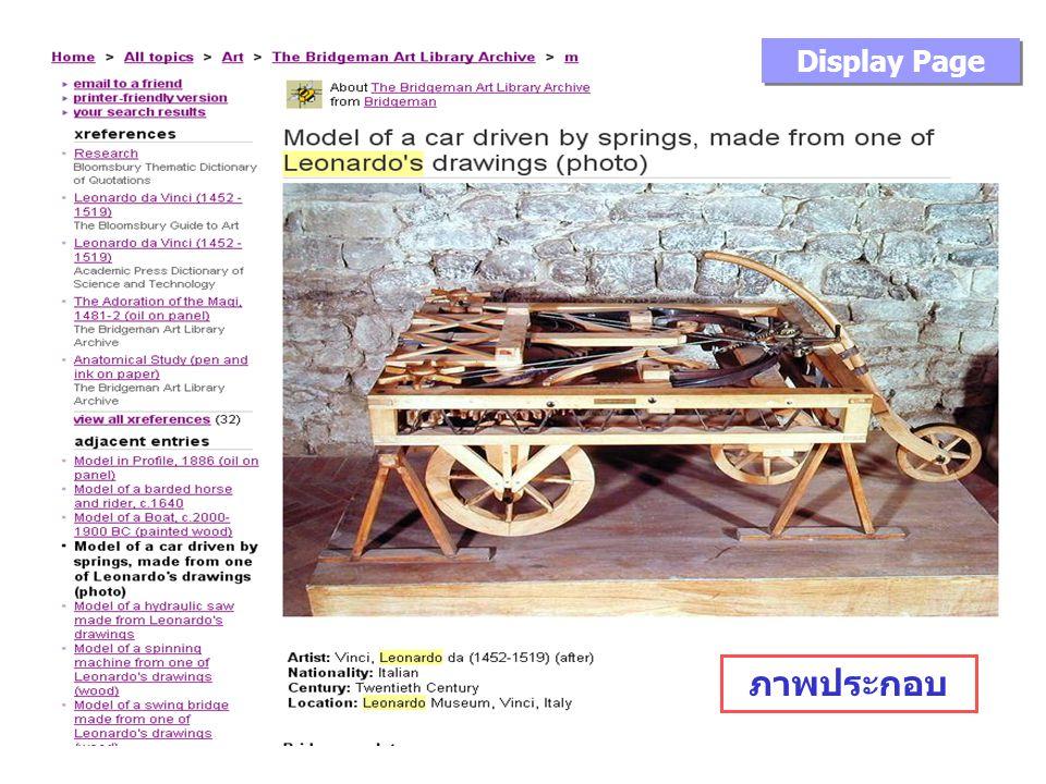 Display Page ภาพประกอบ