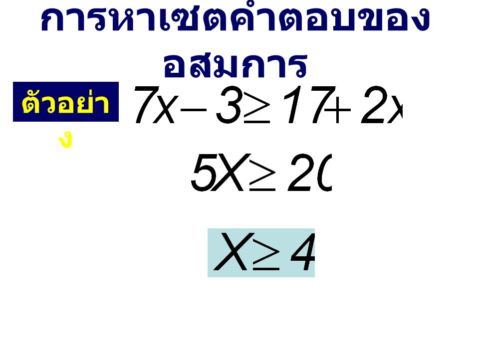 จำนวนจริงทุกจำนวนเป็นคำตอบของอสมการ