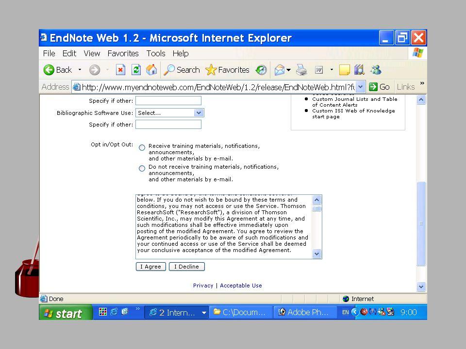 การ direct export จากฐานข้อมูล Web of Science
