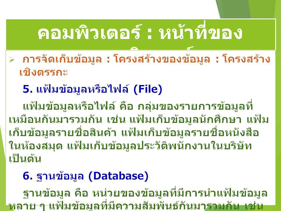 คอมพิวเตอร์ : หน้าที่ของ คอมพิวเตอร์ 14