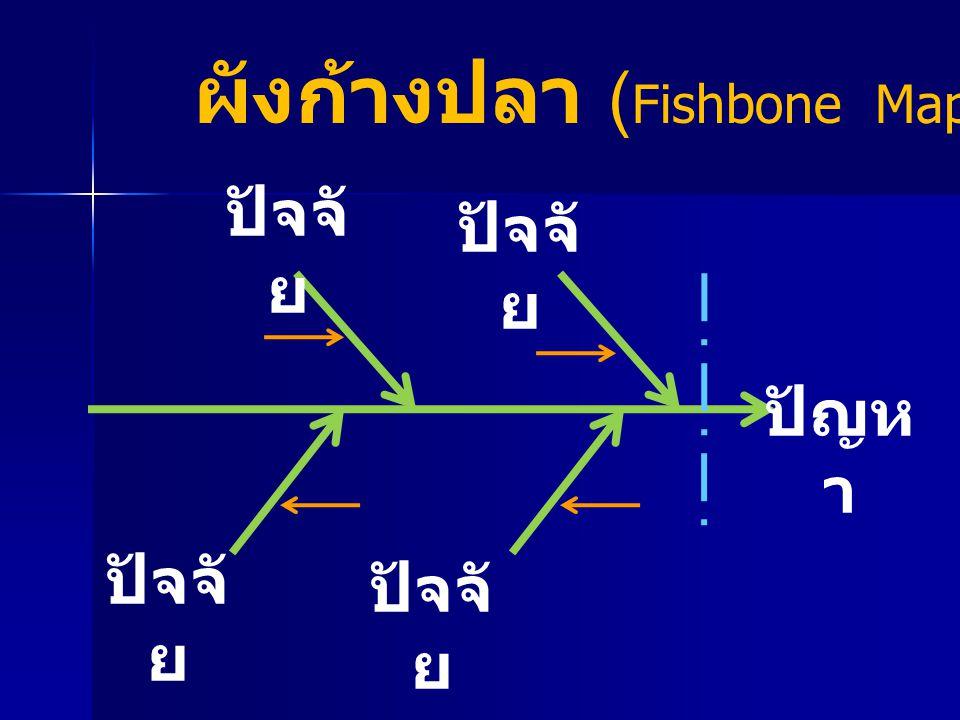 ปัจจั ย ปัญห า ผังก้างปลา ( Fishbone Map)