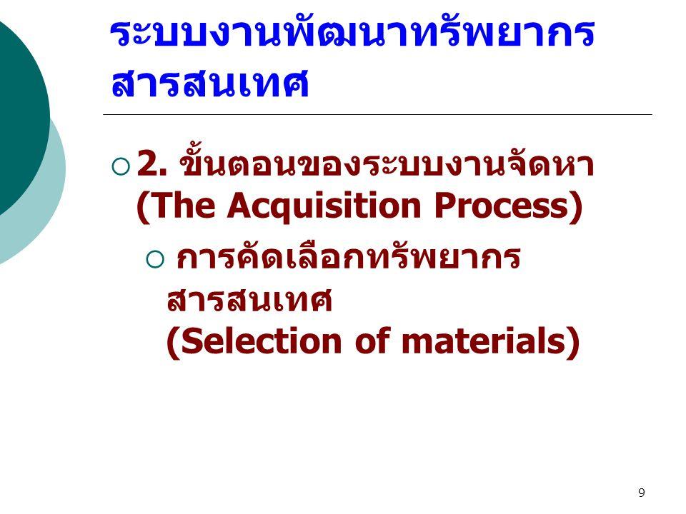 9 ระบบงานพัฒนาทรัพยากร สารสนเทศ  2.