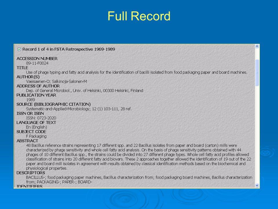 Full Record