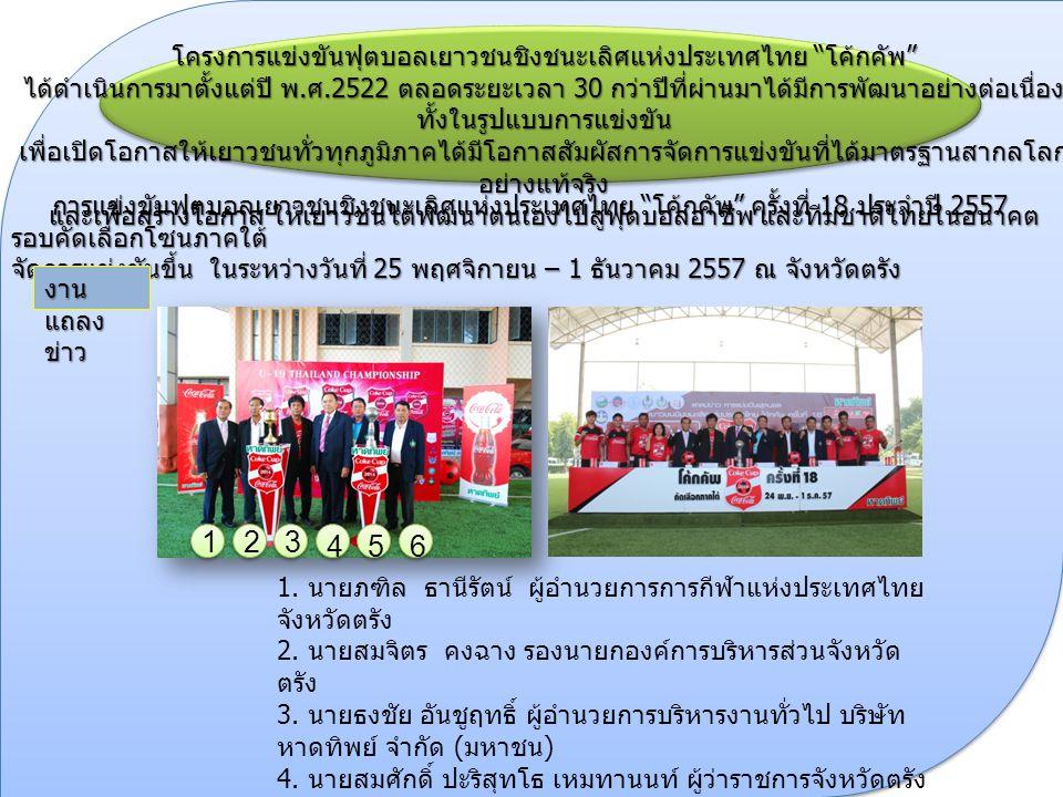 โครงการแข่งขันฟุตบอลเยาวชนชิงชนะเลิศแห่งประเทศไทย โค้กคัพ ได้ดำเนินการมาตั้งแต่ปี พ.