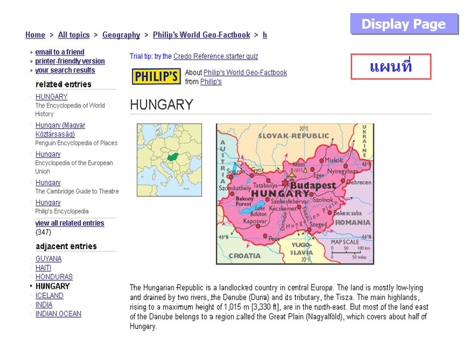 แผนที่ Display Page