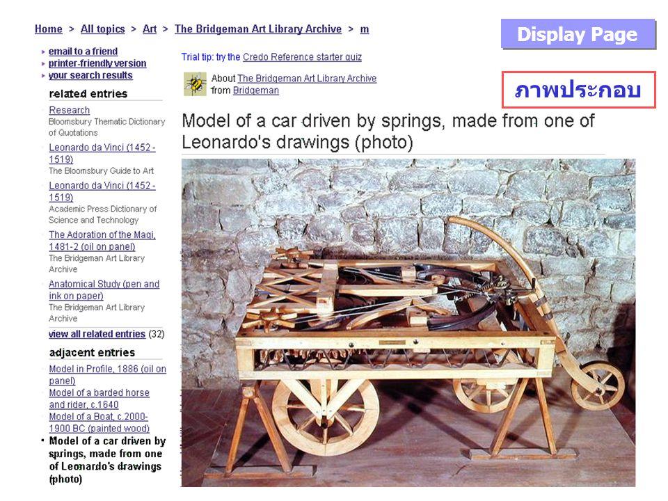 ภาพประกอบ Display Page