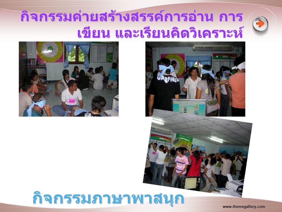 www.themegallery.com กิจกรรมค่ายสร้างสรรค์การอ่าน การ เขียน และเรียนคิดวิเคราะห์ กิจกรรมภาษาพาสนุก