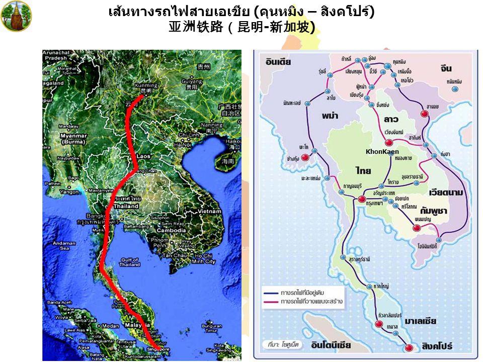 6 เส้นทางรถไฟสายเอเซีย 亚洲铁路路线图