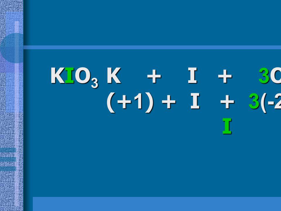 วิธีทำ HClO 4 H + Cl + 4O = 0 (+1) + Cl + 4(-2) = 0 (+1) + Cl + 4(-2) = 0 Cl = +7 Cl = +7