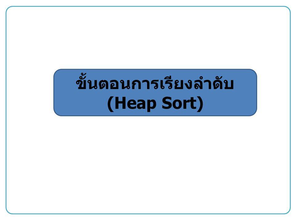 ขั้นตอนการเรียงลำดับ (Heap Sort)