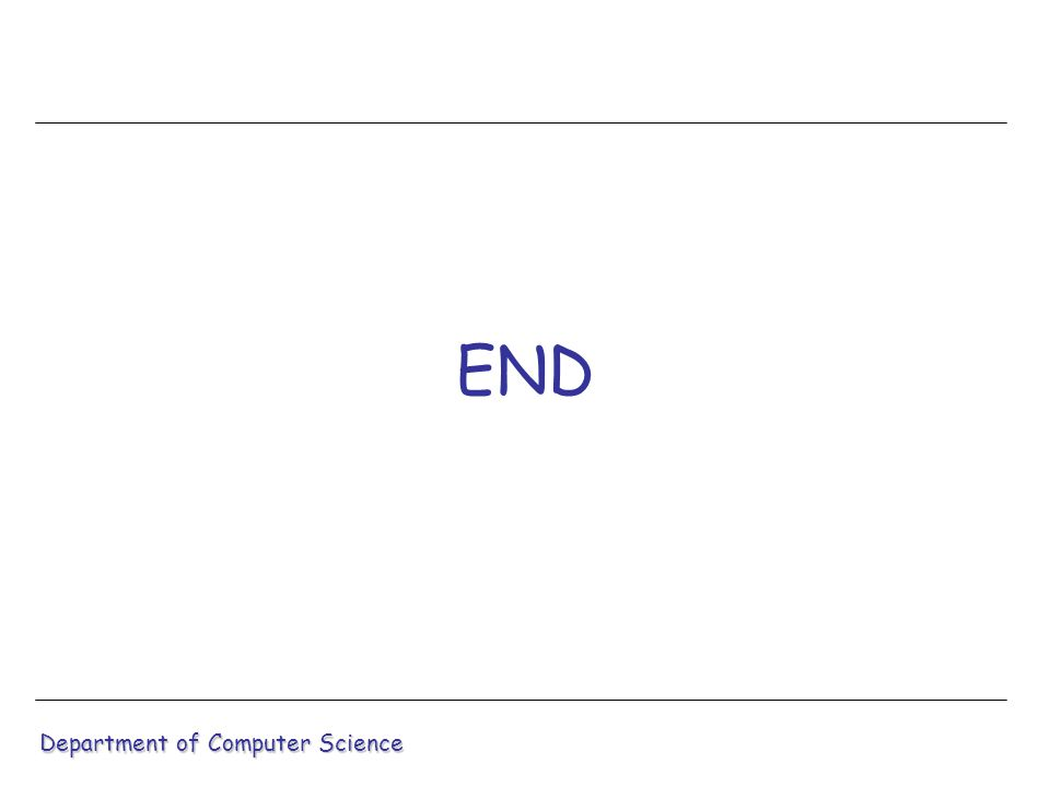 END Department of Computer Science