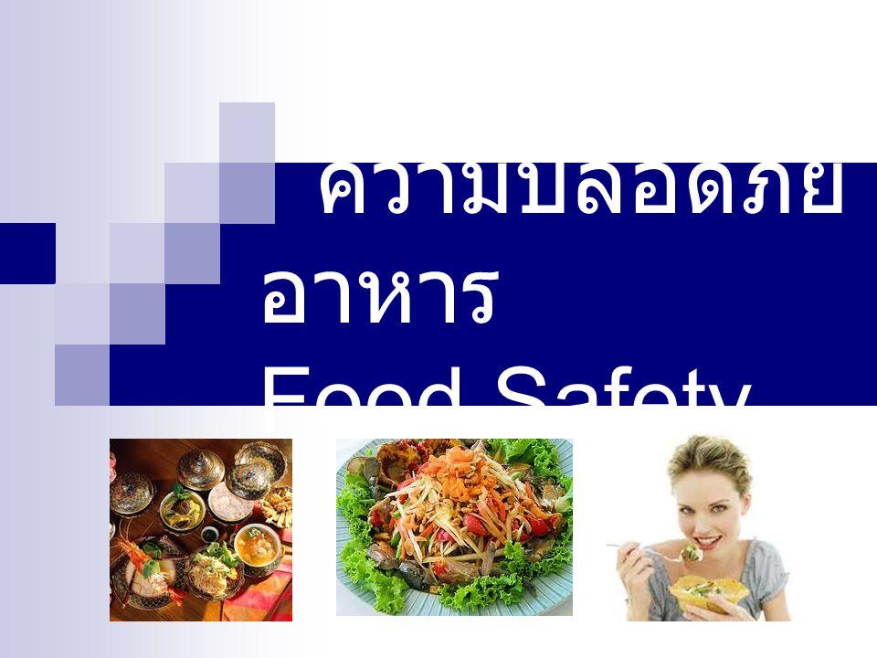 ความปลอดภัย อาหาร Food Safety