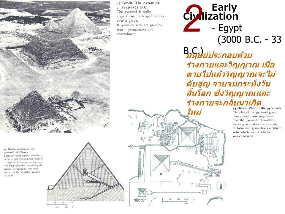 Early Civilization - Egypt (3000 B.C. - 33 B.C.) 2