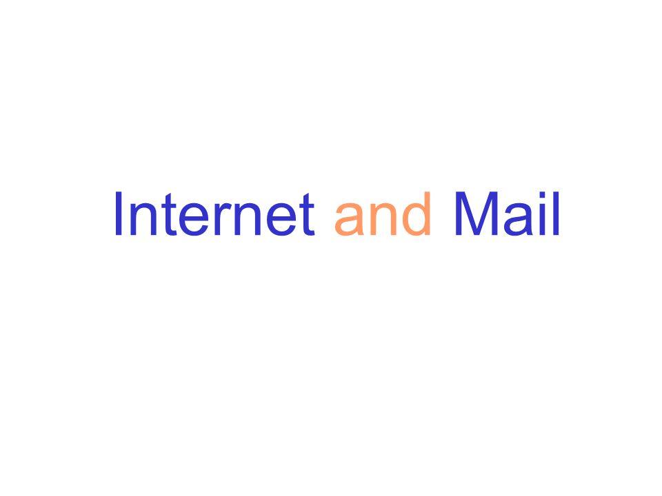 Internet = Inter + Network Network of Networks