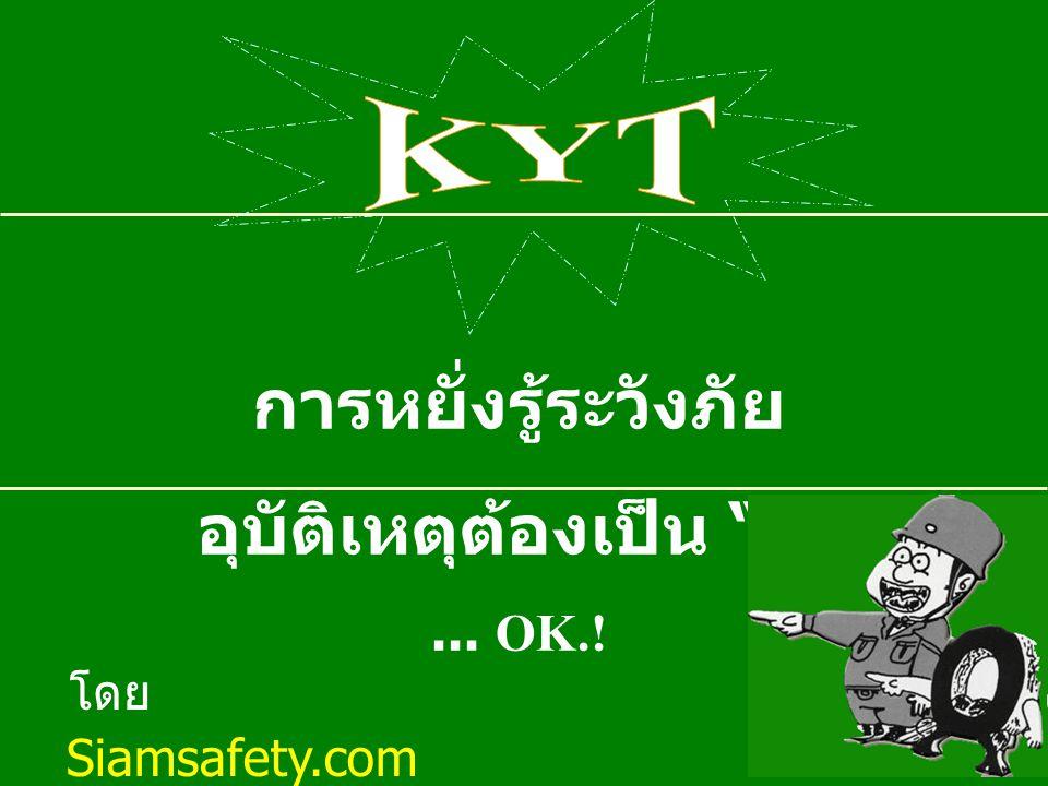 www.siamsafety.com KIT FOR MANAGEMENT KYT การเตือนสติก่อนการปฏิบัติงาน เพื่อขจัดความผิดพลาดที่เกิดจากคน (HUMAN WARE)
