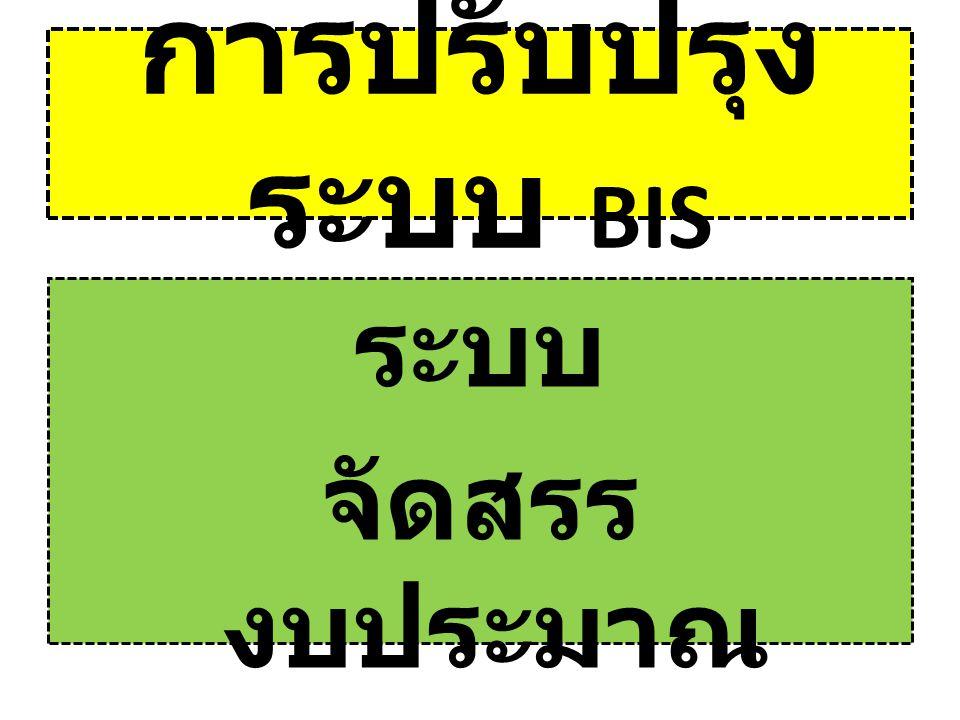การปรับปรุง ระบบ BIS ระบบ จัดสรร งบประมาณ