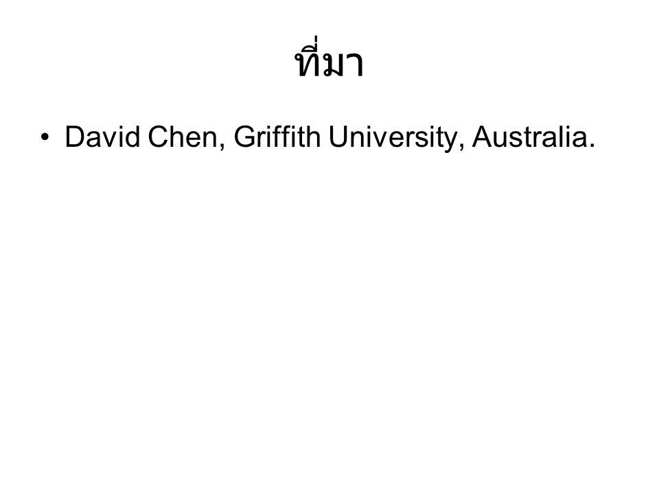 ที่มา David Chen, Griffith University, Australia.