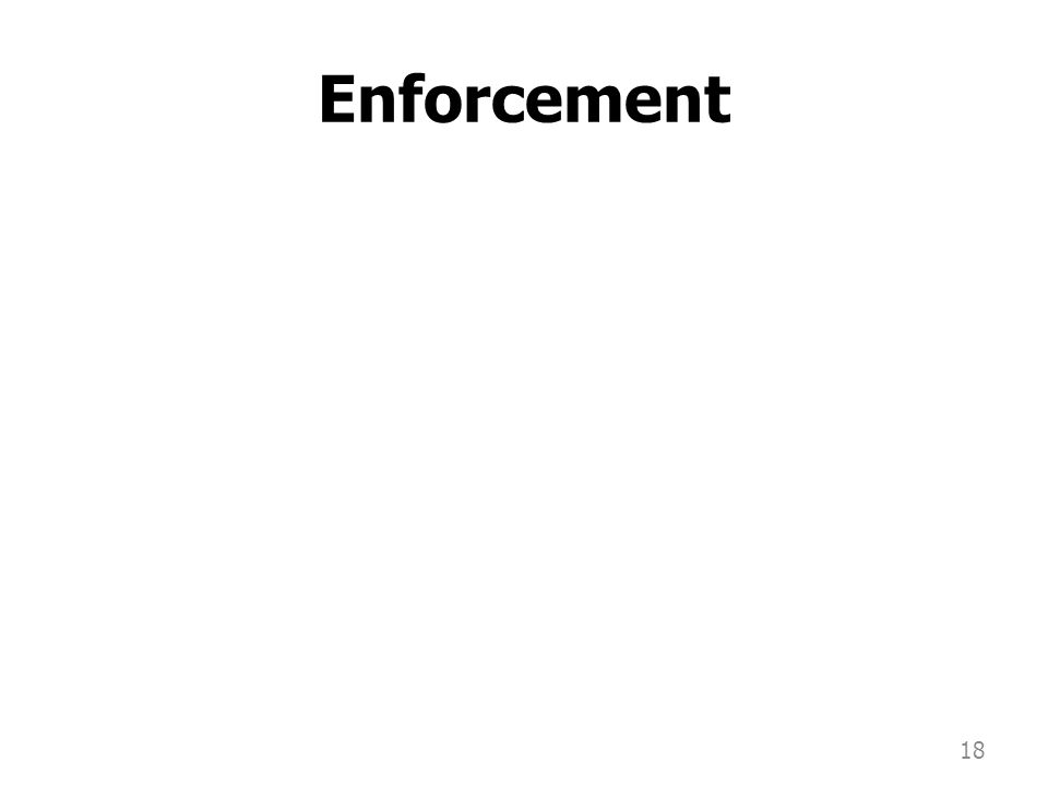 Enforcement 18
