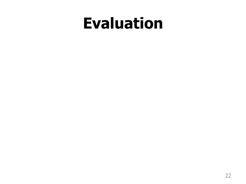 Evaluation 22
