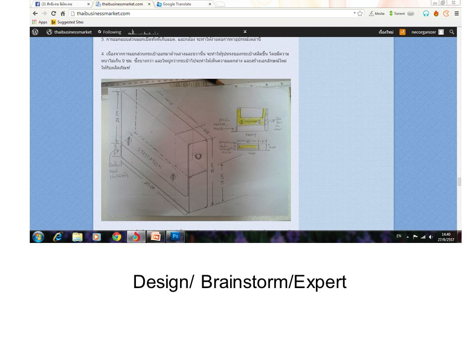 Design/ Brainstorm/Expert