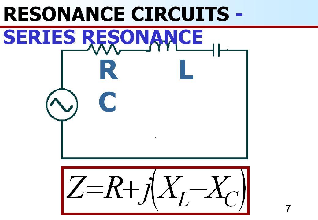 8 RESONANCE CIRCUITS - ตัวอย่างที่ 1 ถ้า แรงดันไฟฟ้ า 2.