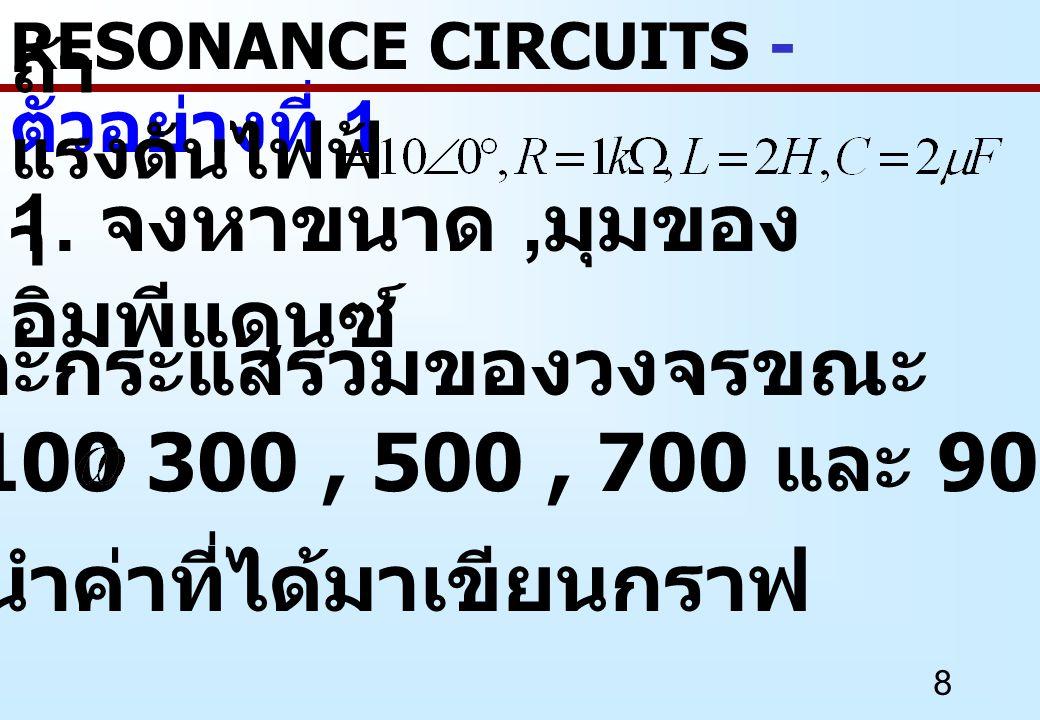 49 จากสมการสามารถแยก องค์ประกอบของ Resistance และ Reactance ได้อย่างละ หนึ่งเทอมดังนี้ RESONANCE CIRCUITS- อนุกรม RC เป็นขนาน RC