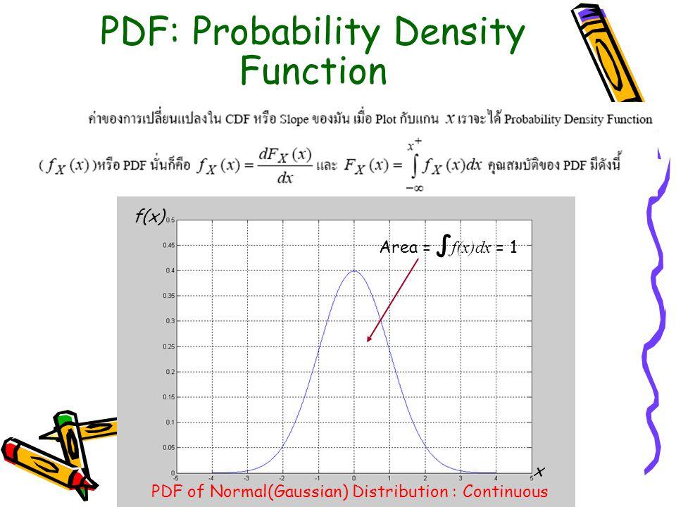 Properties of PDF