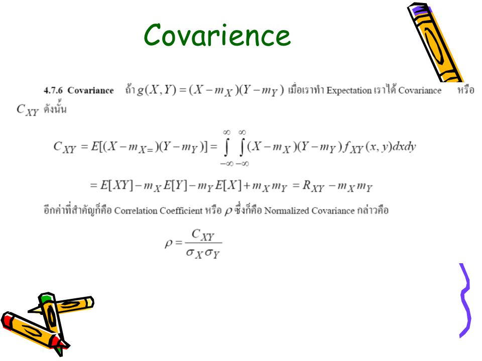Correlation and Covarience
