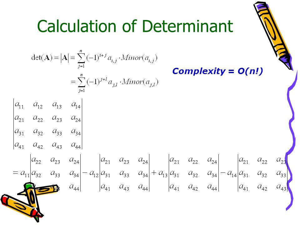 Complexity = O(n!)