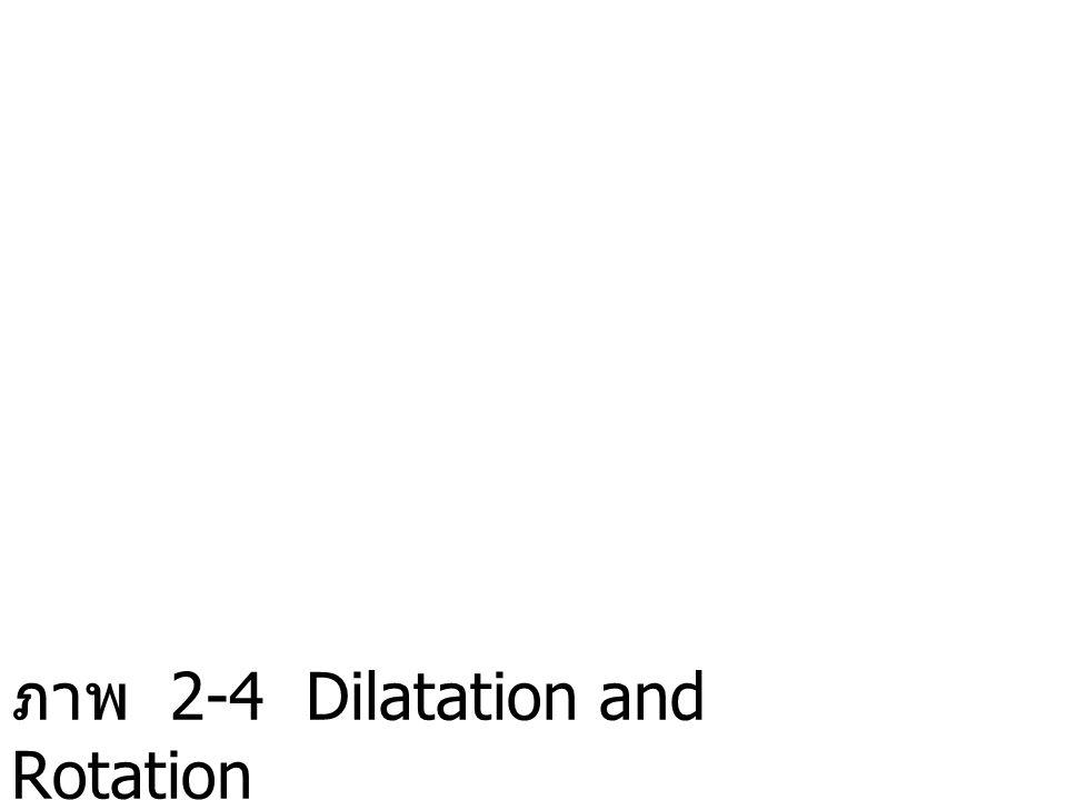ภาพ 2-4 Dilatation and Rotation