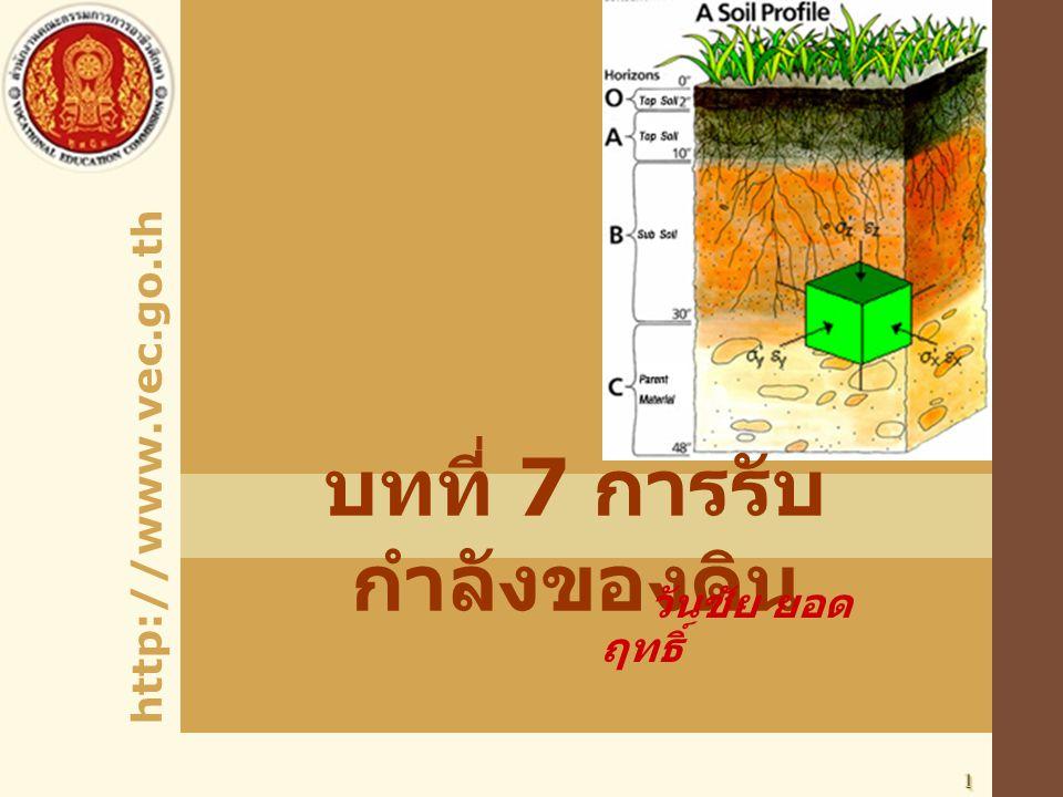 http://www.vec.go.th 11 บทที่ 7 การรับ กำลังของดิน วันชัย ยอด ฤทธิ์