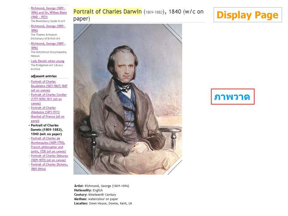 Display Page ภาพวาด
